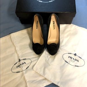 PRADA- Light Gray Pumps